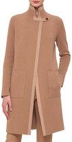 Akris Reversible Contrast-Trimmed Cashmere Coat