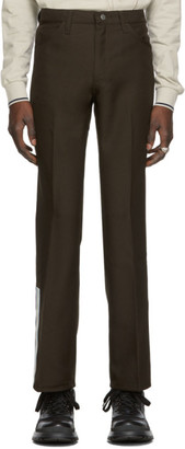St-Henri SSENSE Exclusive Brown Rancher Dress Trousers