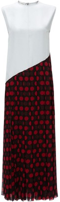 J.W.Anderson Pleated Polka Dot Dress