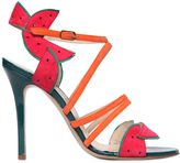 Camilla Elphick 105mm Watermelon Patent Leather Sandals