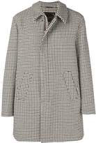 Houndstooth Zipped Coat