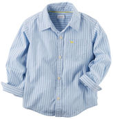 Carter's Dobby Stripe Button-Front Shirt
