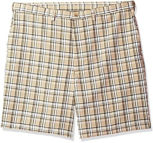b4ae429a44 Men's Big and Tall B&t Cool 18 Pro Classic Fit Stretch Plaid Flat Front  Short