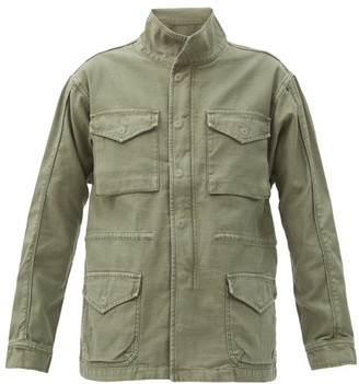 Frame Flap-pocket Cotton Utility Jacket - Khaki