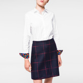 Paul Smith Women's White Cotton Shirt With 'Wild Floral' Cuff Linings