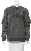 Opening Ceremony Cable Knit-Paneled Oversize Sweatshirt w/ Tags