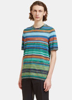 Missoni Men's Striped T-shirt In Blue And Green