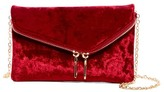 Urban Expressions Velvet Lucy Mini Flap Convertible Clutch