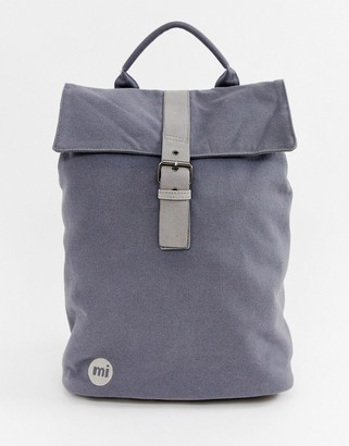 Mi-Pac Mi Pac Canvas Fold Top Backpack in Charcoal-Grey