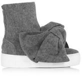 Joshua Sanders Women's Grey Wool Ankle Boots.