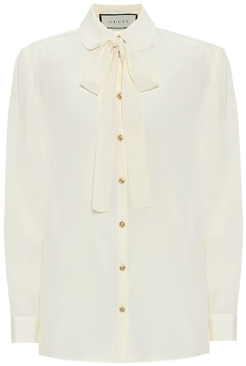 Gucci Silk-crepe blouse