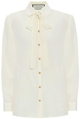Gucci Silk-crepe blouse