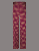 Autograph Polka Dot Wide Leg Trousers
