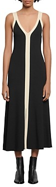 Sandro Naten Knit Two-Tone Midi Dress