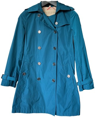 Burberry Blue Trench Coat for Women