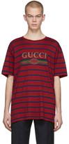 Gucci Red Striped Logo T-Shirt