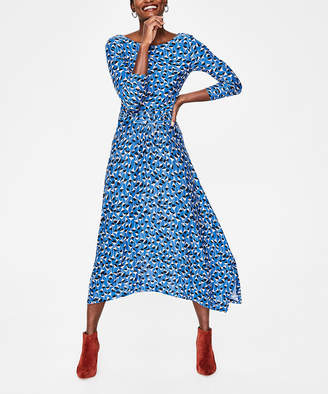 Boden Women's Casual Dresses BLU - Blue Floral Maisie Jersey Midi Dress - Women & Petite