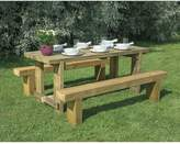 FOREST Garden Refectory Table 1.8m Long and 2 Benches