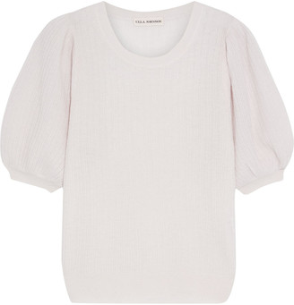 Ulla Johnson Ramia Gathered Cashmere-blend Top