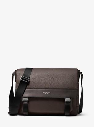 Michael Kors Greyson Pebbled Leather Messenger Bag