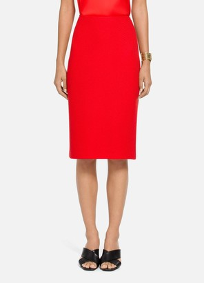 St. John Diagonal Knitted Twill Pencil Skirt