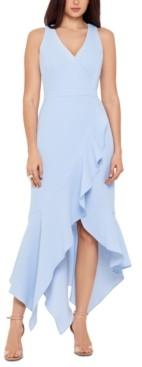 Xscape Evenings Handkerchief-Hem Ruffled Gown