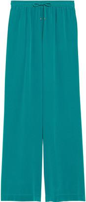 Max Mara Tenna Silk Crepe De Chine Wide-leg Pants