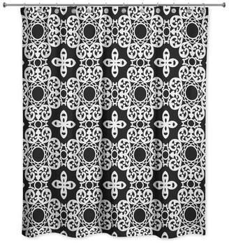 Designs Direct Creative Group Tile Shower Curtain, Black