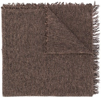 Faliero Sarti Checked Knitted Scarf