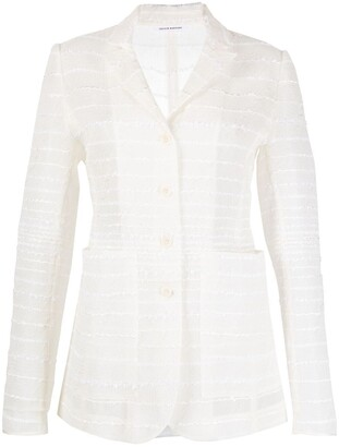 Cecilie Bahnsen Textured-Finish Single-Breasted Blazer