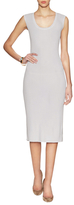 Magaschoni Ribbed Scoopneck Dress