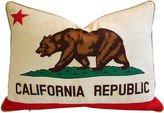 One Kings Lane Vintage California Republic Bear Flag Pillow