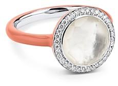 Ippolita Sterling Silver Lollipop Clear Quartz, Mother-of-Pearl & Diamond Carnevale Ring
