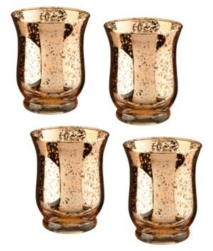 Lillian Rose Mercury Tulip Shaped Glass Votive or Tea Light Holders in Set of 4