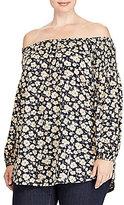 Lauren Ralph Lauren Plus Smocked Off-the-Shoulder Top