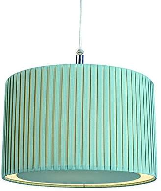 Wilson Village At Home Pleated Pendant Shade, Duck Egg Blue