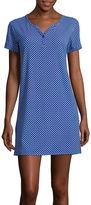 Asstd National Brand Cool Girl Short-Sleeve One-Button Nightshirt
