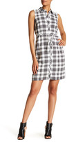 Chetta B Sleeveless Plaid Shirt Dress