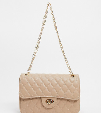My Accessories London Exclusive quilted chain cross body bag in camel