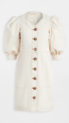Tory Burch Cotton Puffed Sleeve Dress