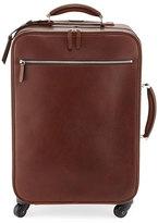 Brunello Cucinelli Leather Trolley Bag, Copper