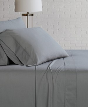 Brooklyn Loom Solid Cotton Percale King Sheet Set Bedding