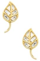 Amrapali 22K Yellow Gold & 1.05 Total Ct. Diamond Leaf Stud Earrings