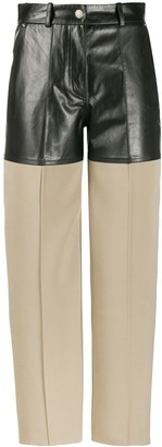 Peter Do Lamb Skin Layer Wide Leg Trousers
