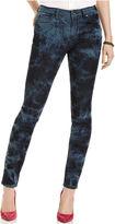 DKNY Jeans, Skinny Printed Jeggings, Indigo Tie Dye Wash