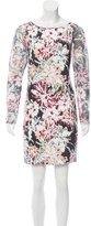 L'Agence Silk Floral Print Dress