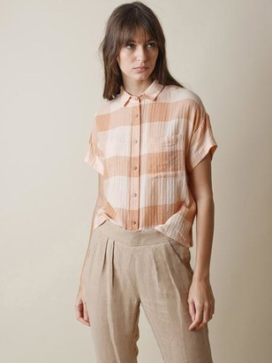 Indi&Cold - Plaid Shirt In Salmon - XS