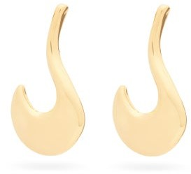 Marni Drop Curved Earrings - Gold