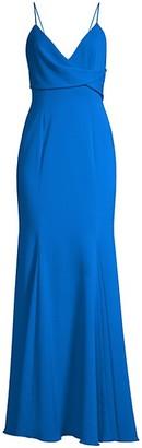 Jay Godfrey Bocelli Drape-Front Gown