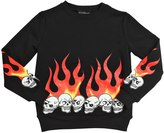 John Richmond Flame Embroidered Cotton Sweatshirt